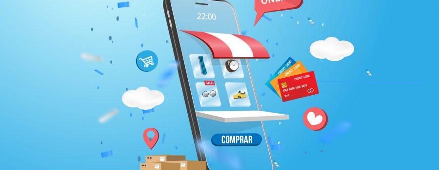 Imagen vectorial de un teléfono que vende online