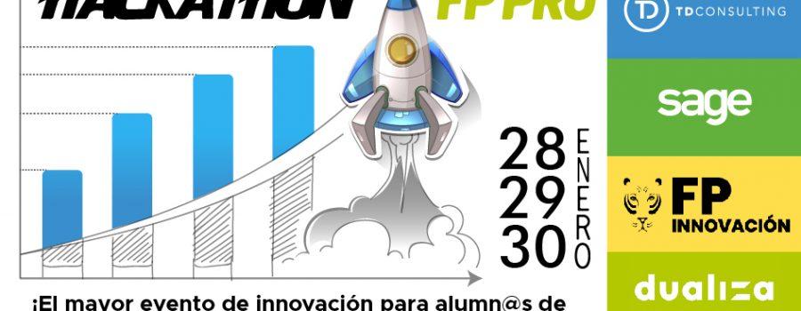 Imagen de una gráfica con un cohete para el Hackathon FP