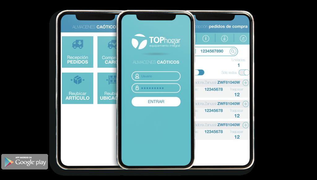 capturas app almacenes caóticos
